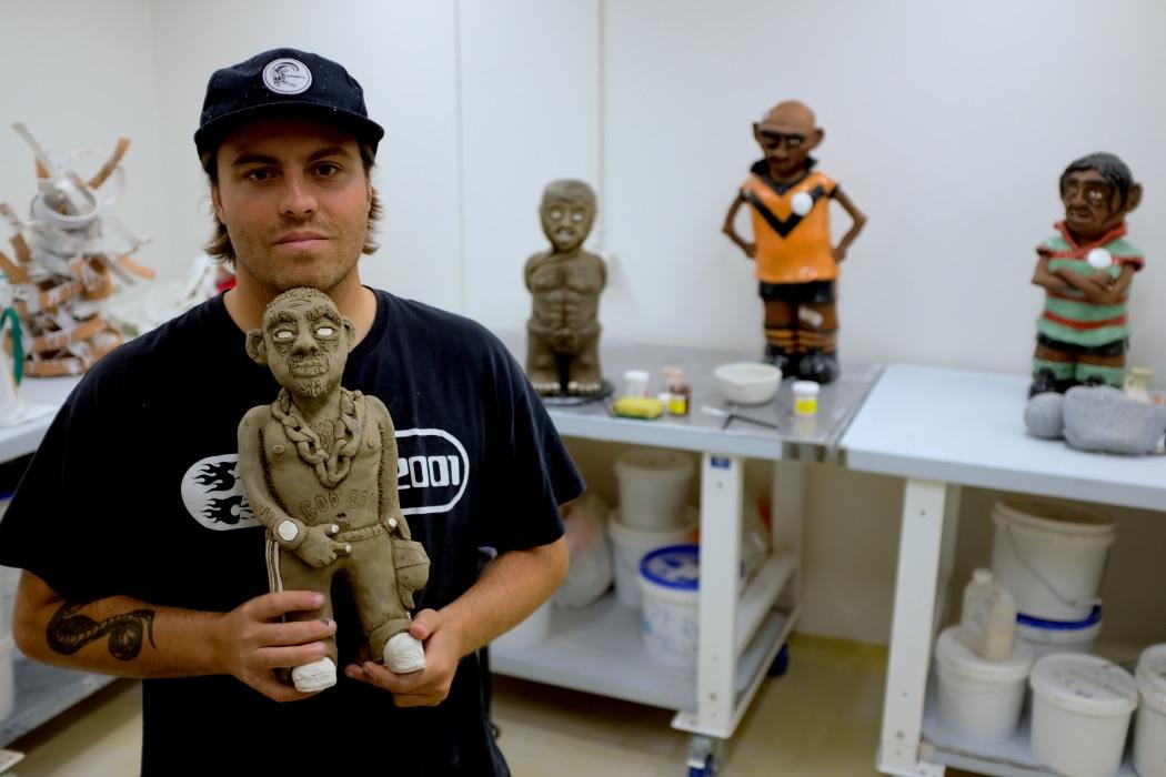 Billy Bain in his studio, 2020