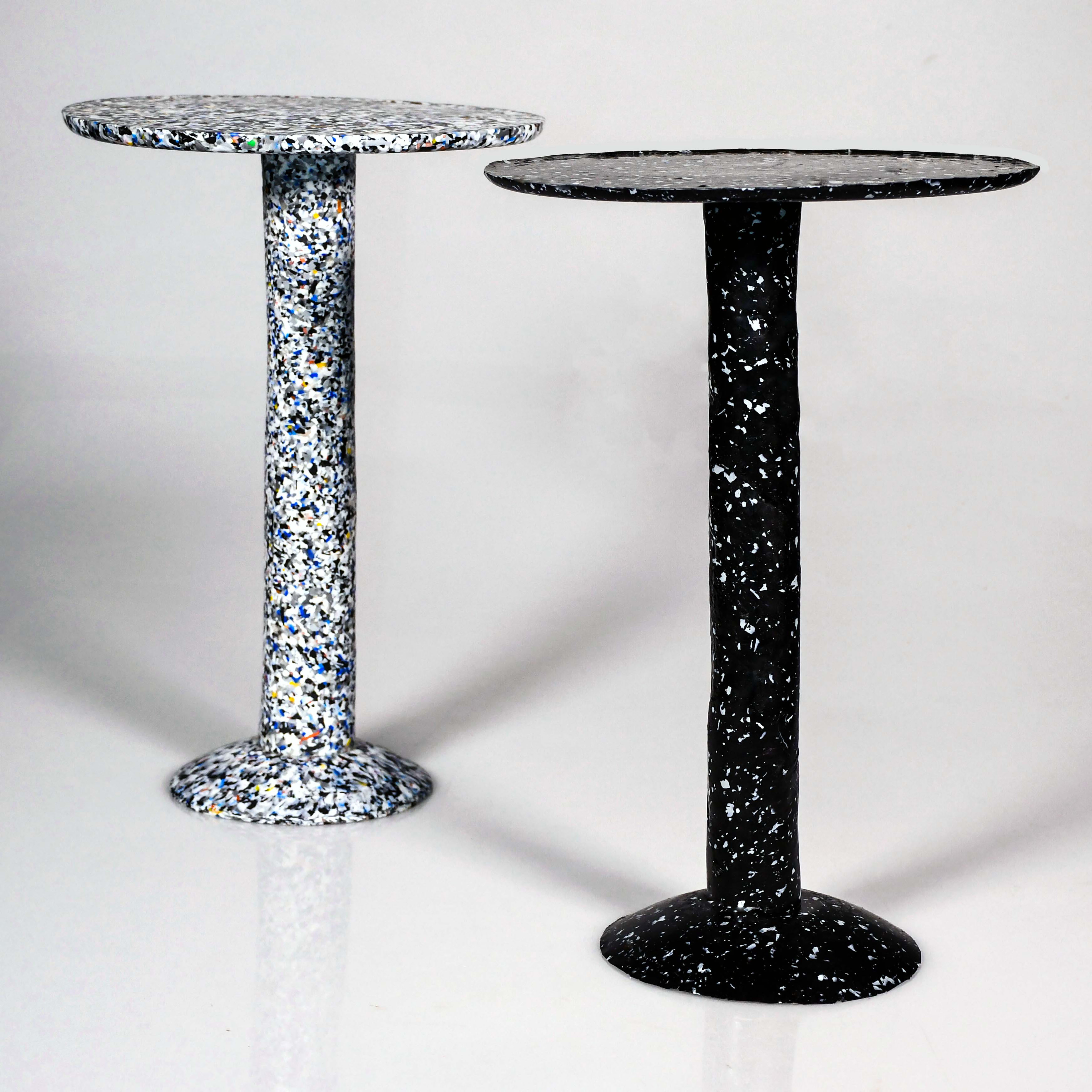 Matthew Harkness_Light and Dark Speckled Side Tables